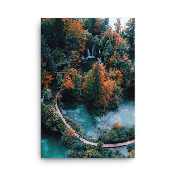 Autumn Park. Photo Print Canvas