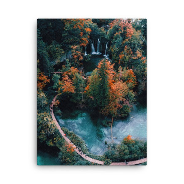 Autumn Park. Photo Print Canvas