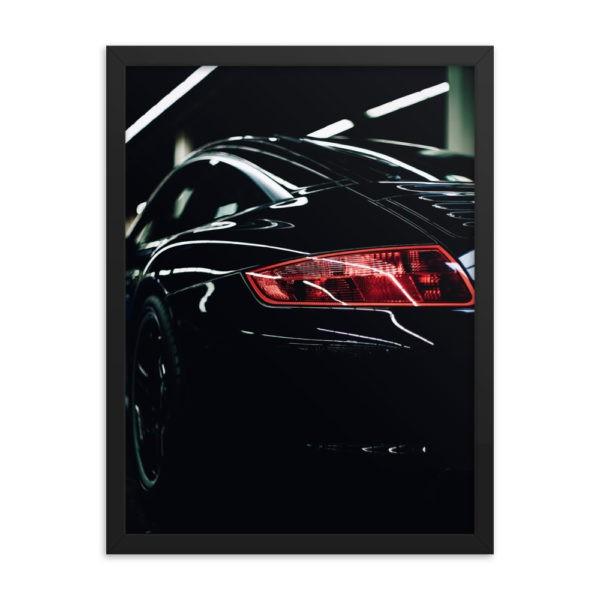 Classic Sport Car. Back Side. Framed Photo Poster