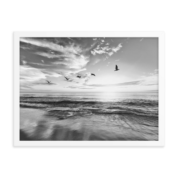Ocean Beach Framed Photo Poster