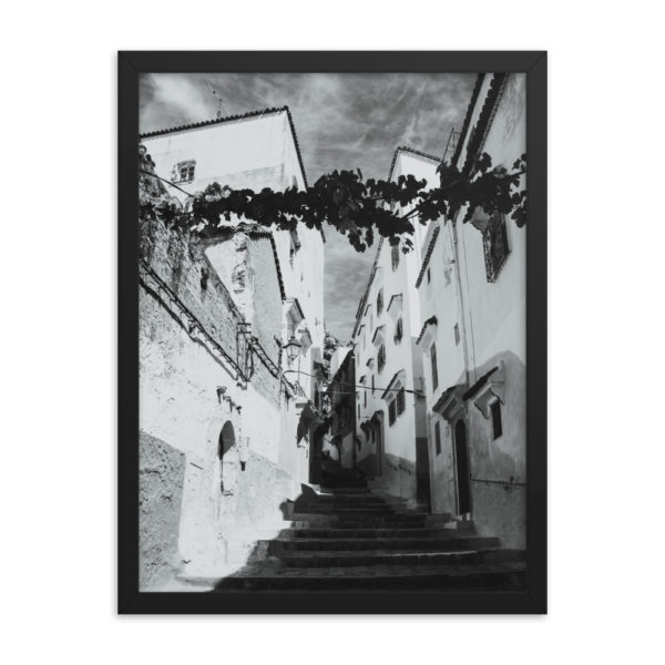 Old City Street Framed Photo Poster