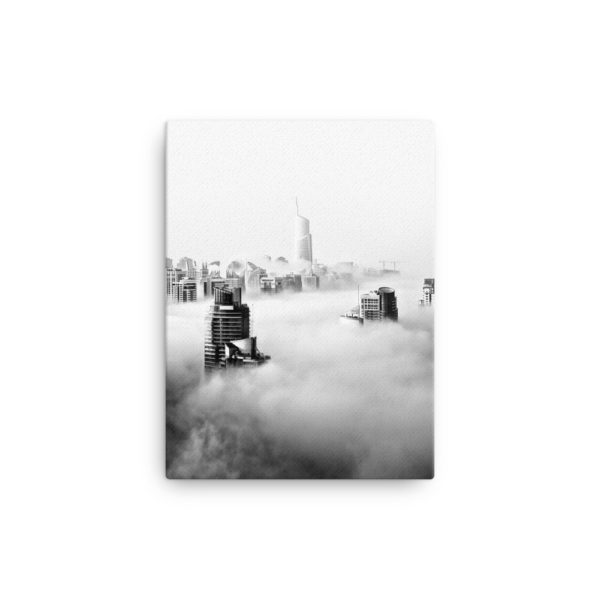 Skyscrapers in the Clouds Photo Print Canvas